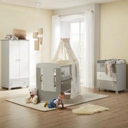 Babyzimmer Kitty - Weiß/Grau, MODERN, Holz - Mömax modern living