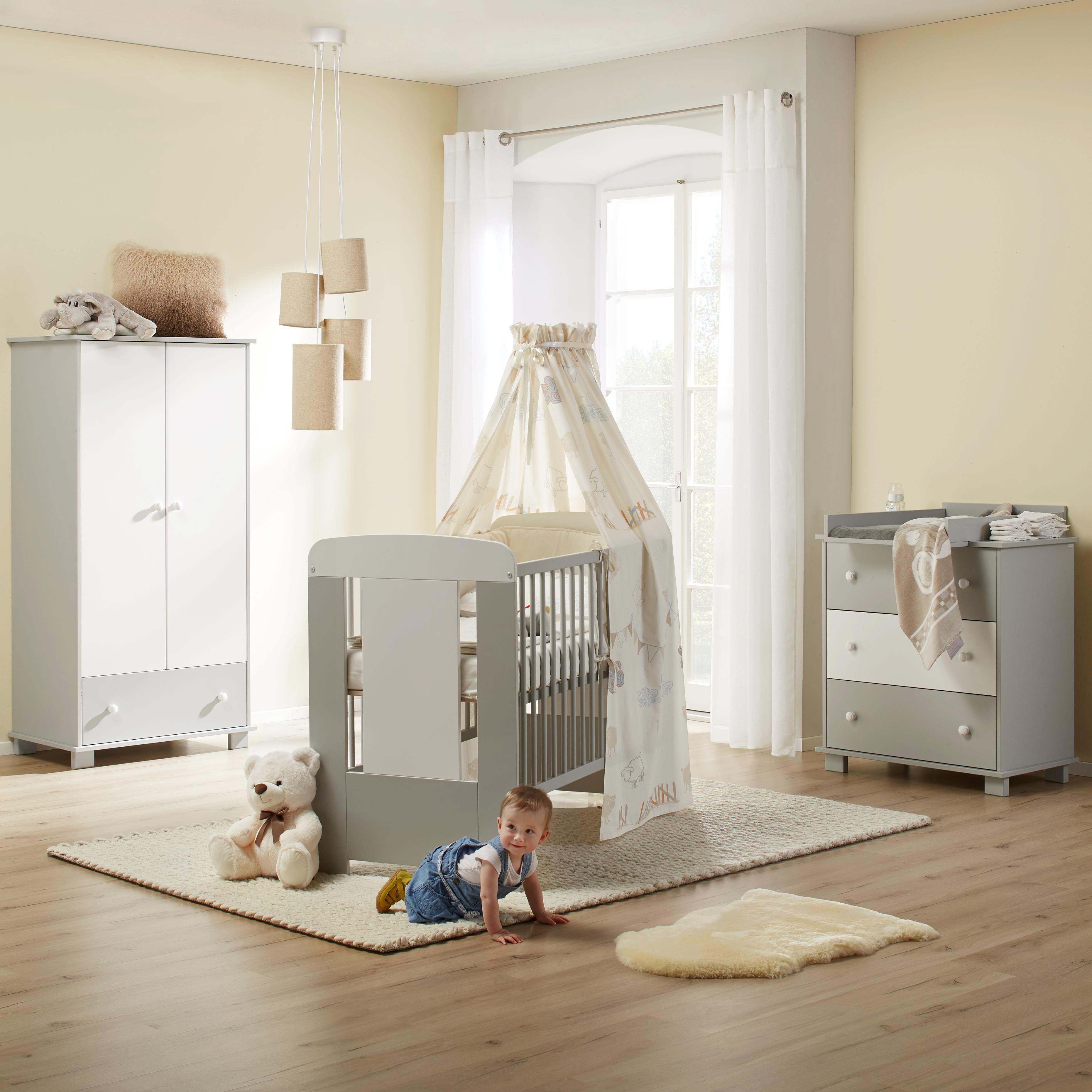 Babyzimmer weiß grau  Babyzimmer Kitty online kaufen ➤ mömax