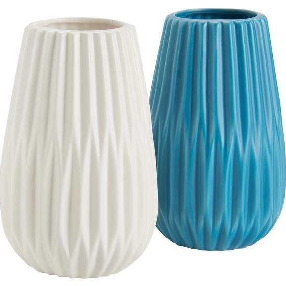 vase livia in wei t rkis online kaufen m max. Black Bedroom Furniture Sets. Home Design Ideas