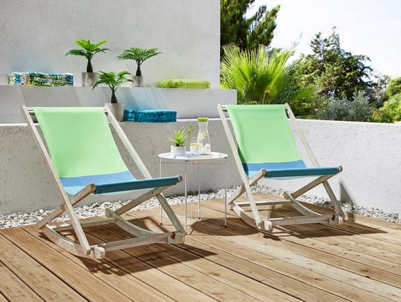 Garten-relaxsessel Bali in Bunt - Blau/Dunkelblau, Holz/Textil (59/79/107cm) - MÖMAX modern living