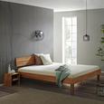 Bett aus Eiche Massiv ca. 95x80cm - Eichefarben, Natur, Holz (90/200cm) - Modern Living