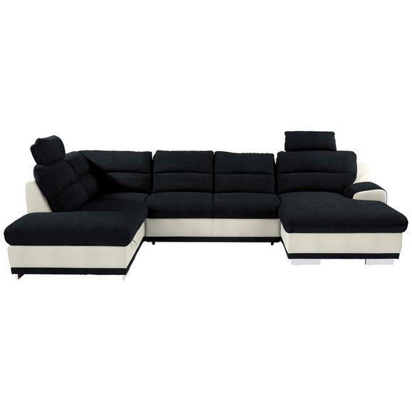 Sjedeća Garnitura Seaside - bijela/boje kroma, Konventionell, tekstil/metal (218/334/165cm) - Modern Living