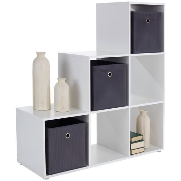 Mobilier Despărțitor Pisa - alb/gri, Modern, plastic/compozit lemnos (112/114/35cm)