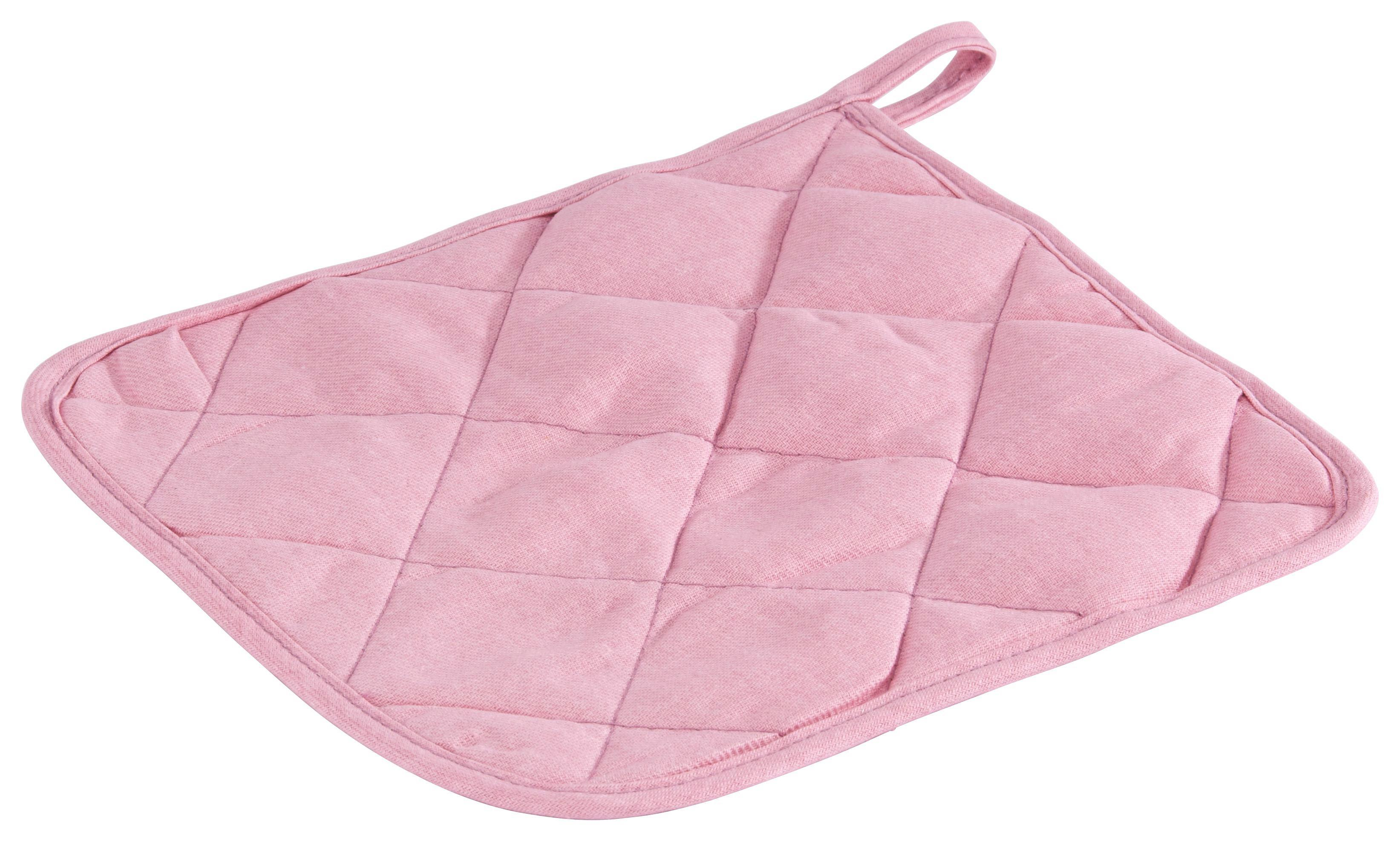 Topflappen Evelin in Rosa aus Baumwolle - Rosa, Textil (20/20cm) - MÖMAX modern living