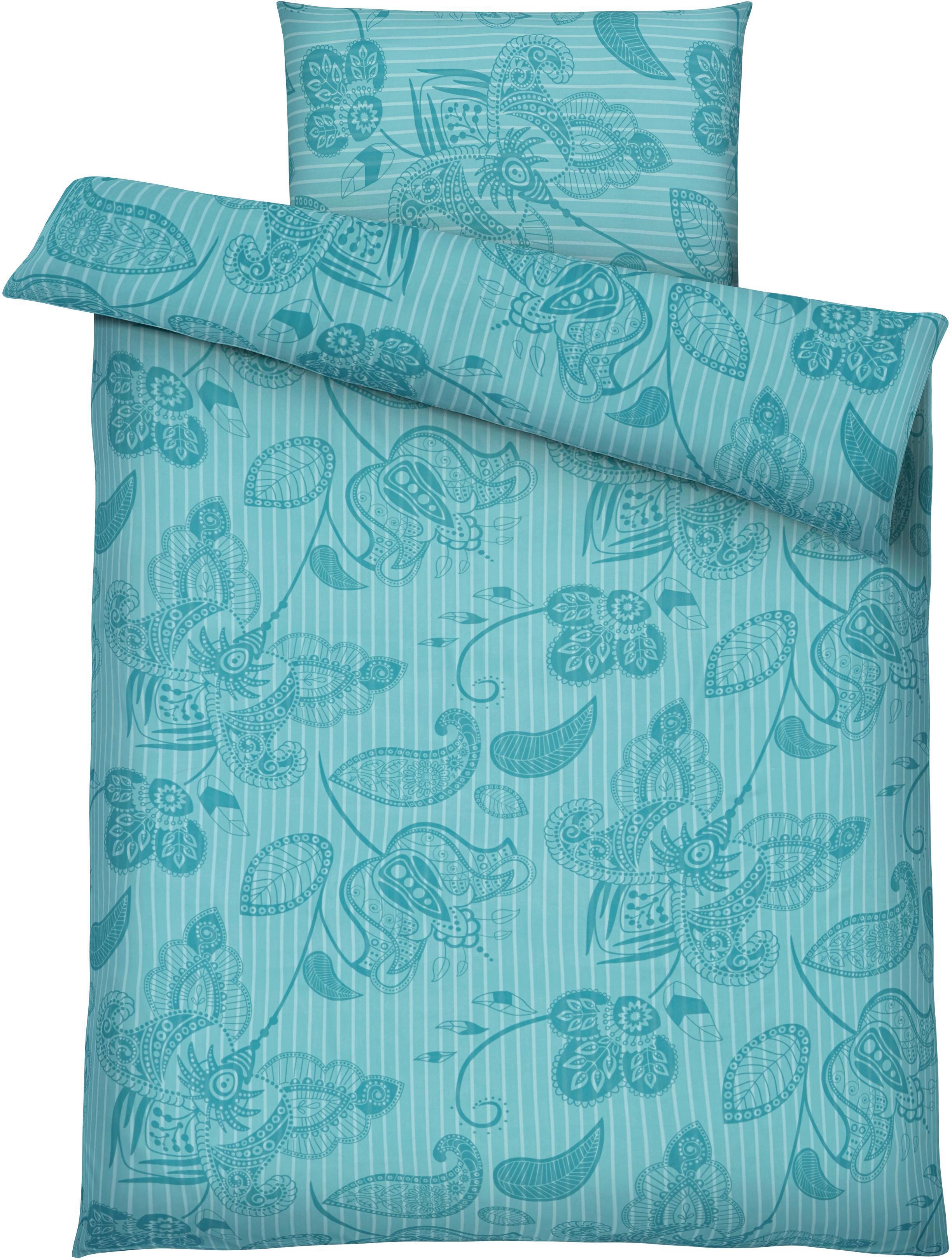 Bettwäsche Marietta, ca. 135x200cm - Türkis, Textil (135/200cm) - MÖMAX modern living