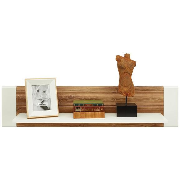 Wandboard in Weiß Hochglanz - Eichefarben/Weiß, MODERN, Holzwerkstoff (120/28/24cm) - Modern Living
