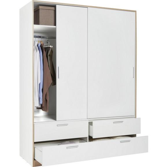 schiebet renschrank in wei mit 2 t ren online kaufen m max. Black Bedroom Furniture Sets. Home Design Ideas