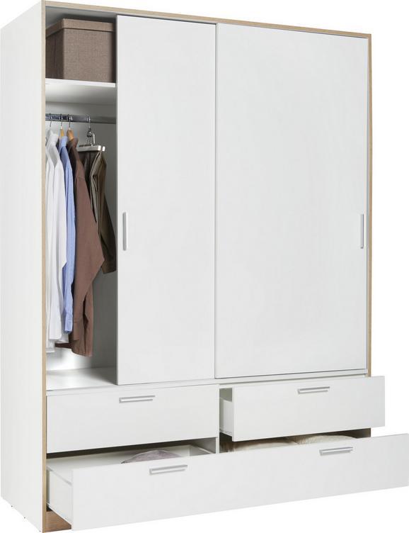 Schiebetürenschrank Weiß - Weiß, KONVENTIONELL, Holzwerkstoff (140/205/60cm) - Modern Living
