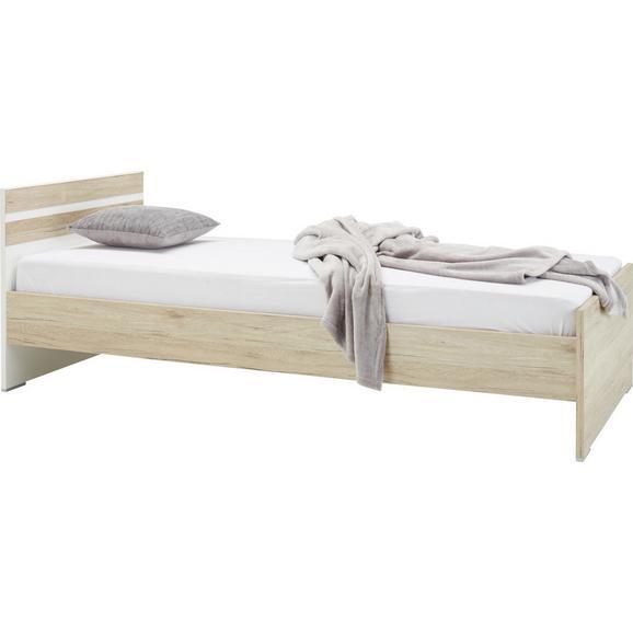 Kinder-/Juniorbett Eichefarben ca. 90x200cm - (90/200cm) - Modern Living