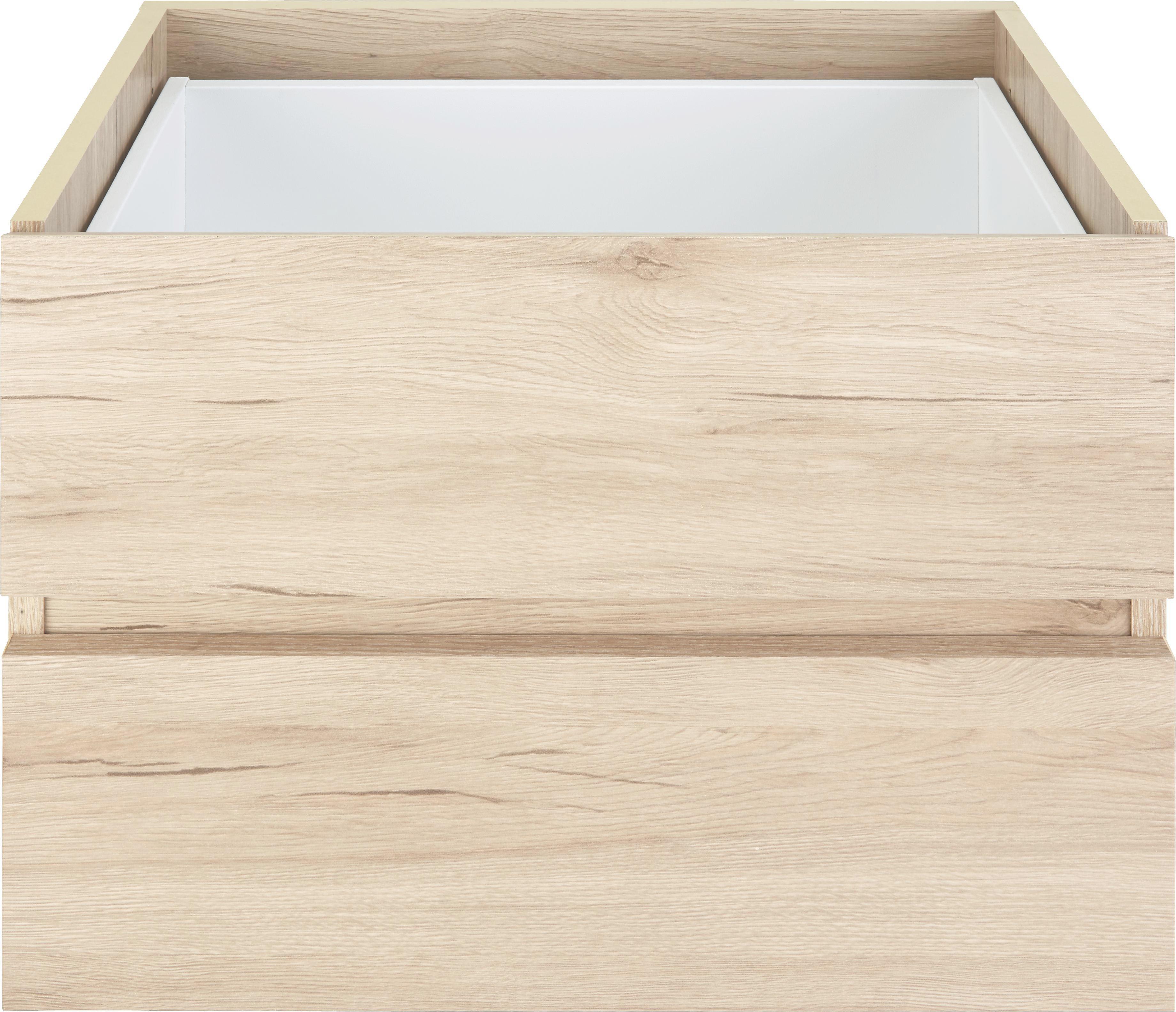 Schubkasteneinsatz in Eiche, 2er Set - Eichefarben, Holzwerkstoff (52/35/34cm) - MÖMAX modern living