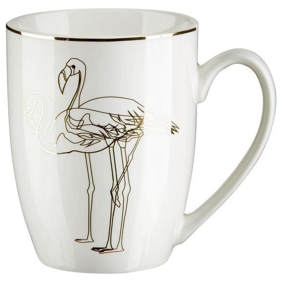 Kaffeebecher Golden Couple ca. 350ml - Goldfarben/Weiß, LIFESTYLE, Keramik (8,5/10,6cm) - Mömax modern living