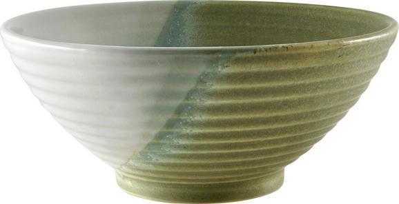Schüssel Shannon in Grün - Grün, ROMANTIK / LANDHAUS, Keramik (18/7,5cm) - MÖMAX modern living