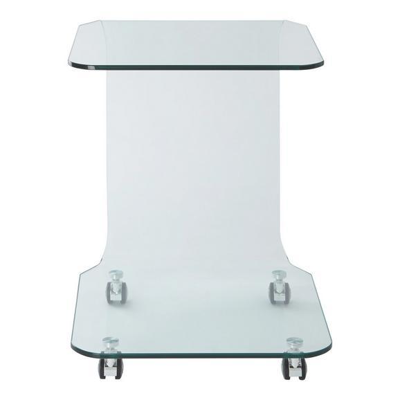 Beistelltisch aus Glas - Klar, MODERN, Glas (42,5/63/42,5cm) - Mömax modern living