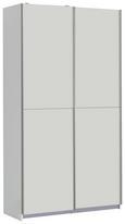 Omara Z Drsnimi Vrati Ohio - aluminij/črna, Moderno, kovina/umetna masa (120/191/42cm) - Mömax modern living