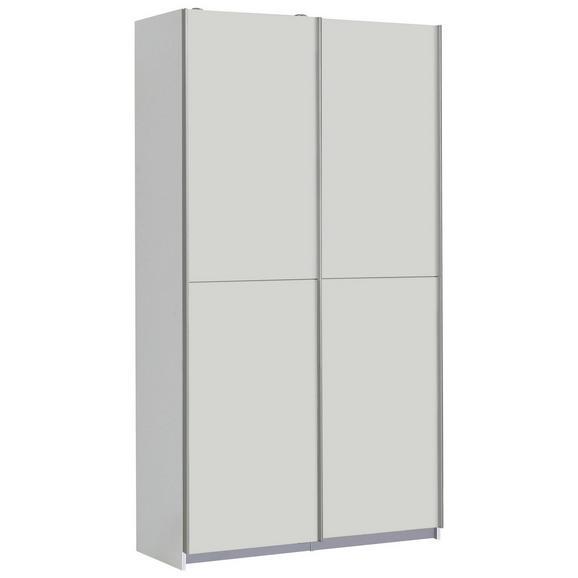 Omara Z Drsnimi Vrati Ohio - aluminij/siva, Moderno, kovina/umetna masa (120/191/42cm) - Mömax modern living