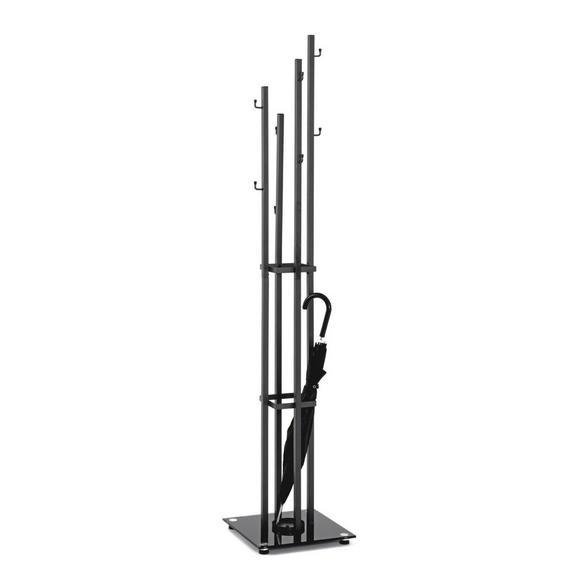 Garderobenständer in Anthrazit mit 8 Haken - Anthrazit, MODERN, Metall (35/182/35cm)