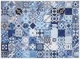 Bild Lucie Blau - Blau/Weiß, Holz/Textil (102/142/4,3cm) - Modern Living