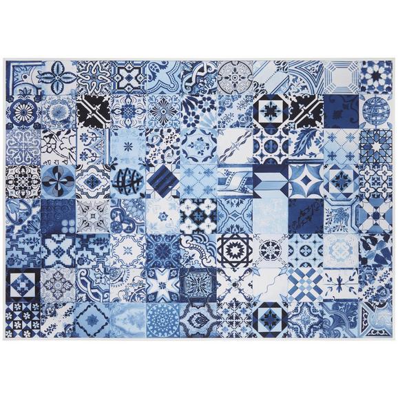 Slika Denise - modra/bela, tekstil/les (102/142/4,3cm) - Modern Living
