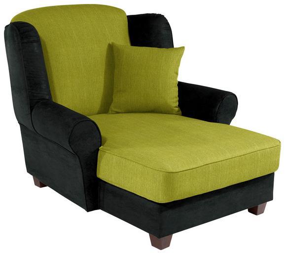 Fotelja Living - zelena/antracit, MODERN, drvo/tekstil (120/98/138cm)
