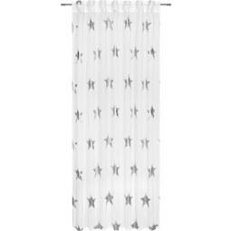 Zavesa Z Zankami Starlite - zlata/bela, Romantika, tekstil (140/245cm) - Mömax modern living