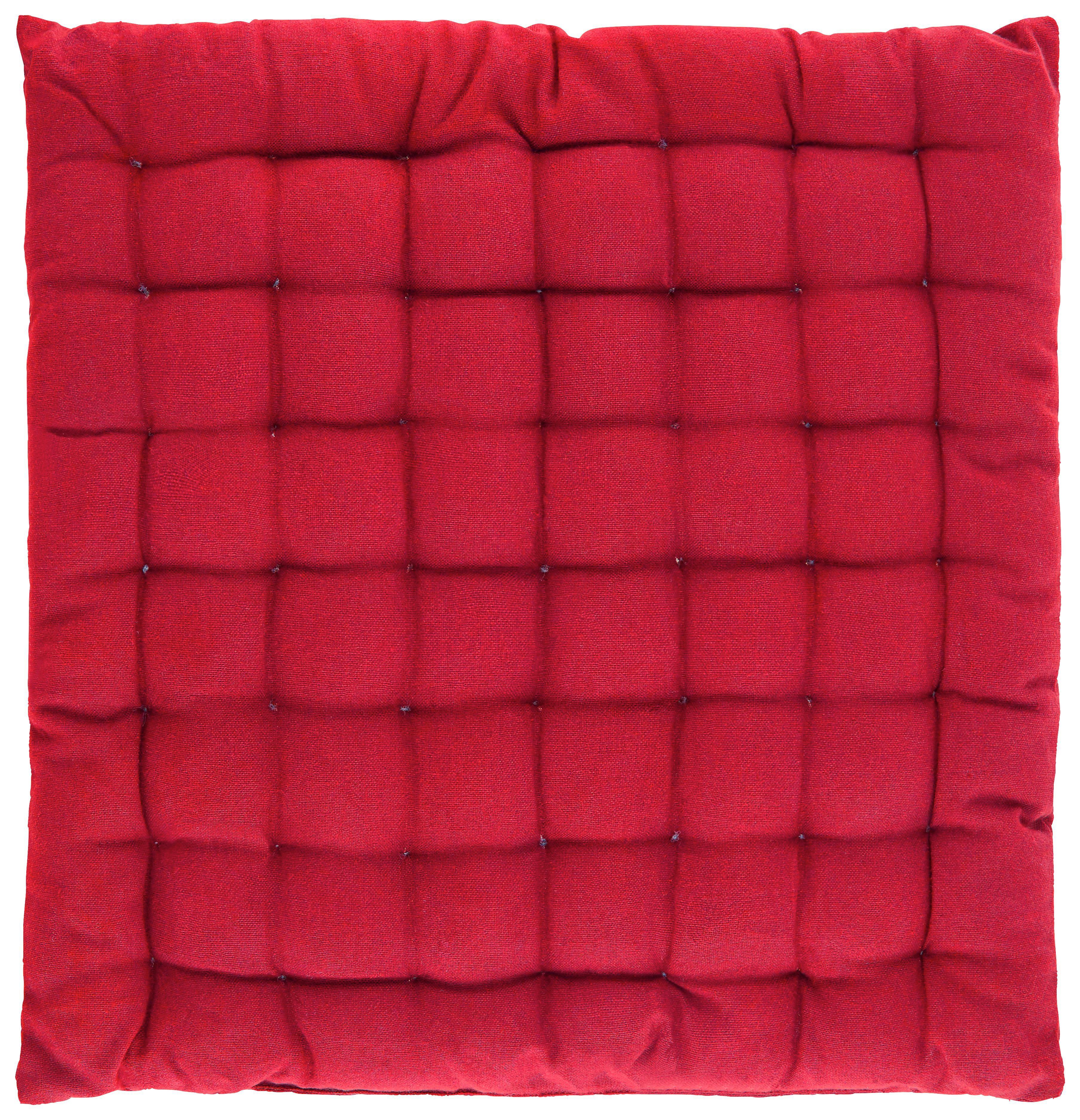 Sitzkissen Kathrin in Rot, ca. 40x40cm - Rot, Textil (40/40cm) - MÖMAX modern living