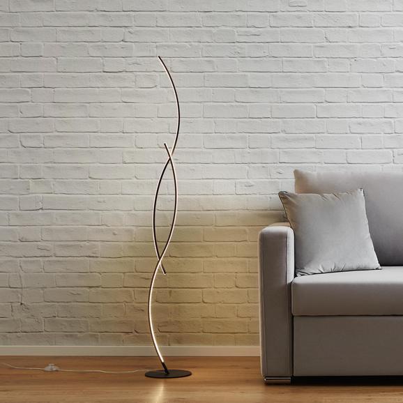 Stehleuchte Zara mit Led - Silberfarben, MODERN, Metall (21/145/21cm) - Modern Living