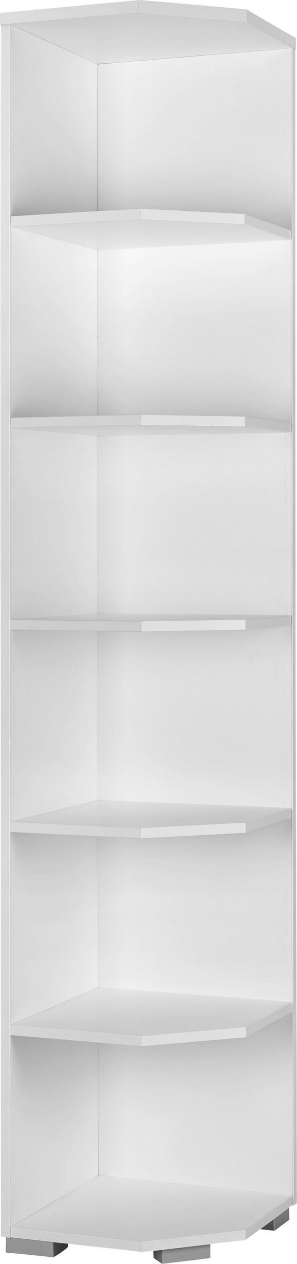 abschlussregal in Weiß - Alufarben/Weiß, MODERN, Holzwerkstoff/Kunststoff (40/214,4/40cm) - MÖMAX modern living