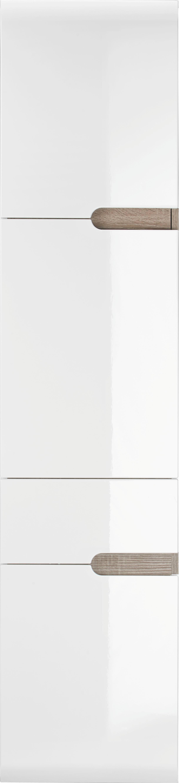 Hochschrank in Weiß/Eiche/trüffel - MODERN, Holzwerkstoff (40/176/31cm) - MÖMAX modern living