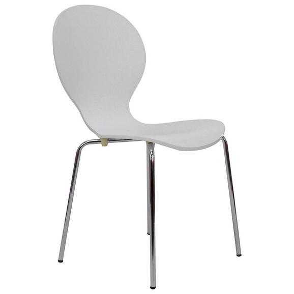 Stol Ria - bela/krom, Konvencionalno, kovina/les (45/86/50cm) - Mömax modern living