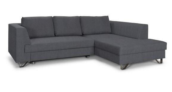 Sedežna Garnitura Mohito - temno siva/srebrna, Moderno, kovina/tekstil (280/196cm) - Premium Living