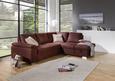 Sedežna Garnitura Cara - sivo rjava/krom, Romantika, kovina/tekstil (250/91/213cm) - Mömax modern living