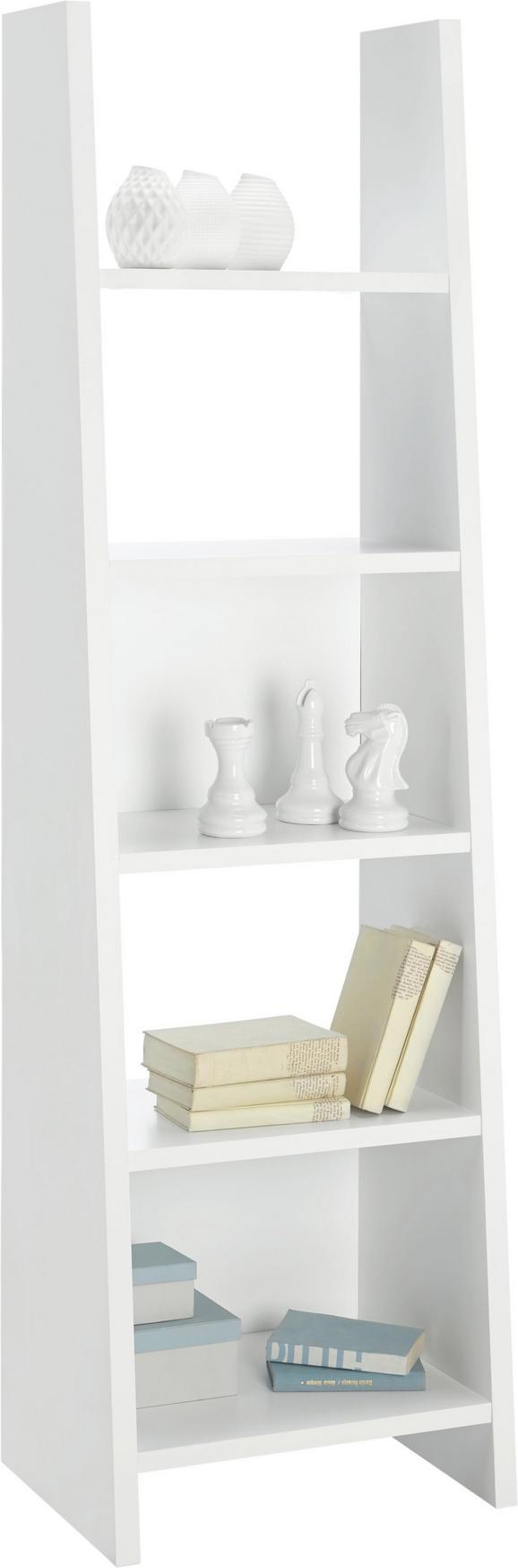 Regal Pisa Ii Bela - bela, Moderno, leseni material (53,6/186,5/38cm)