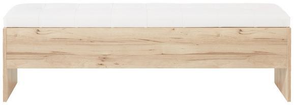 Truhenbank in Weiß/Eiche - Eichefarben/Weiß, KONVENTIONELL, Holzwerkstoff/Kunststoff (185/56/37cm) - PREMIUM LIVING