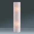 Stehleuchte Francesco, max. 60 Watt - Chromfarben/Weiß, KONVENTIONELL, Papier/Metall (27,5/120/cm) - Based