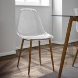 Stuhl Vinnie - Transparent/Braun, MODERN, Kunststoff/Metall (47/83,5/52cm) - Modern Living