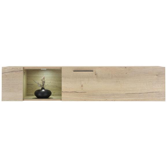 Hängeelement in Eichefarben - Eichefarben/Weiß, MODERN, Holzwerkstoff/Metall (144/35/38cm) - Premium Living