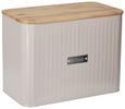 Brotbox Cosima Taupe - Naturfarben/Grau, MODERN, Holz/Metall (33/18/24cm) - Zandiara