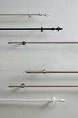 Vorhangstangenset Cardo aus Metall, ca. 120cm - Edelstahlfarben, Metall (120cm) - Premium Living