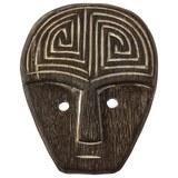 Wanddeko Asmara Weiß/Schwarz - Schwarz/Weiß, Holz (15/8/2cm) - Zandiara