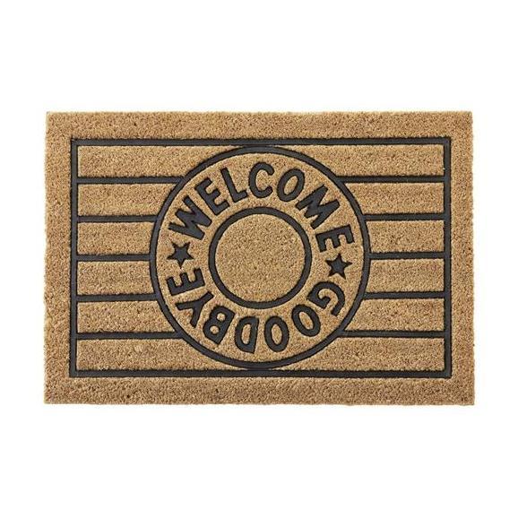 Fußmatte Welcome & Goodbye ca. 40x60cm - Beige/Schwarz, Basics, Kunststoff/Textil (40/60cm) - Mömax modern living