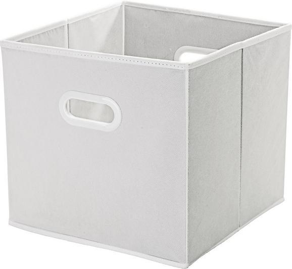 Aufbewahrungsbox Elli - Weiß, KONVENTIONELL, Karton/Kunststoff (33/33/32cm) - MÖMAX modern living