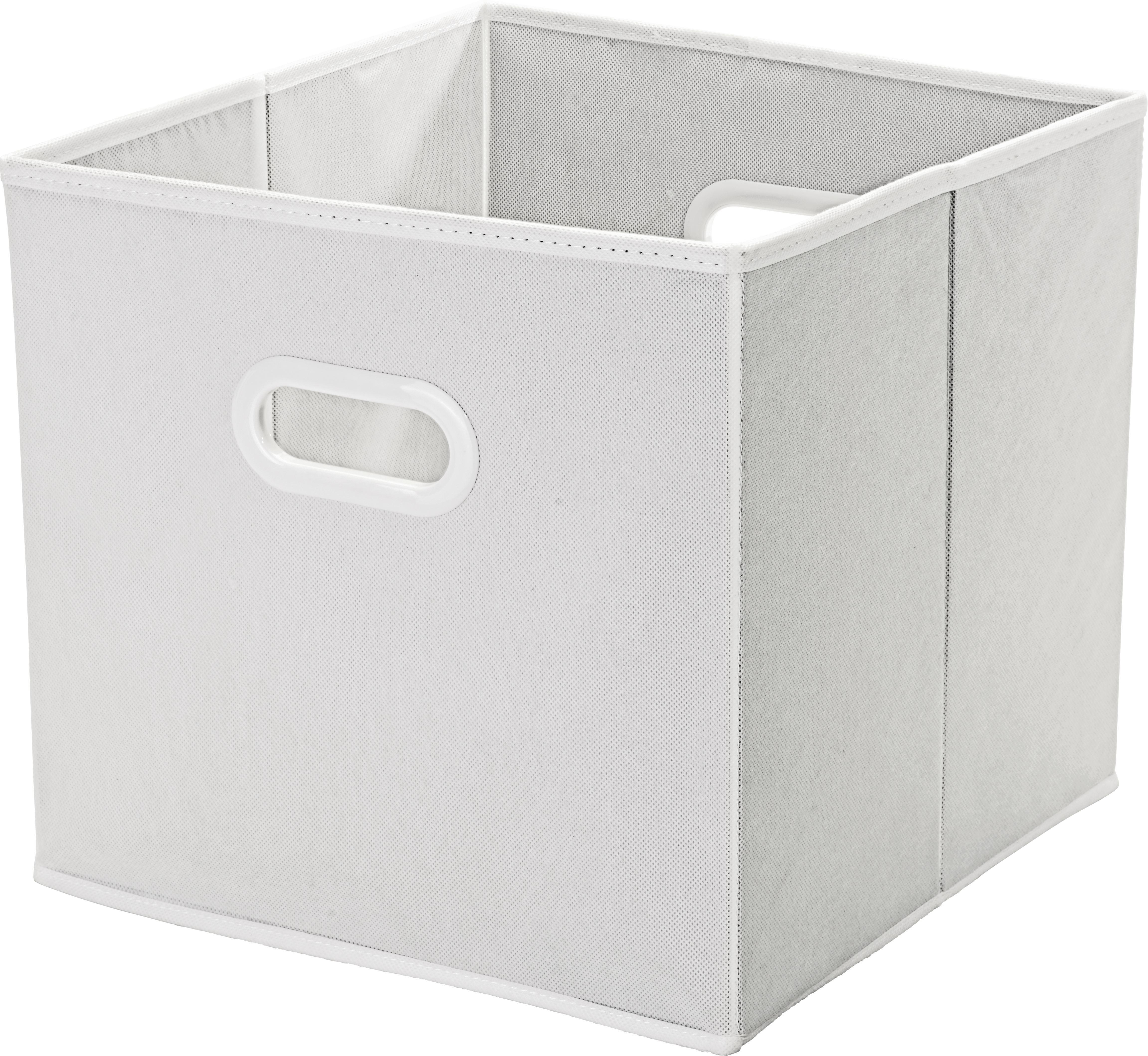 Tárolódoboz Elli - fehér, konvencionális, műanyag/karton (33/33/32cm) - MÖMAX modern living