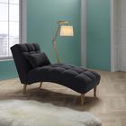 Recamiere Darian inkl. Kissen - Grau, MODERN, Holz/Textil (67/89/157cm) - Mömax modern living