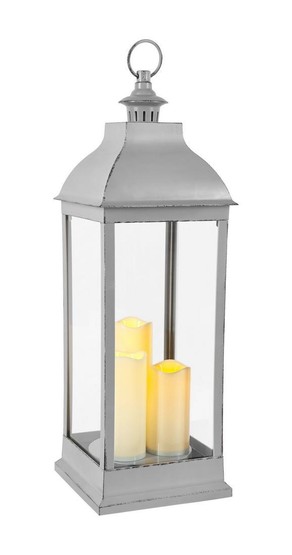 Lámpás Manuela - Szürke, konvencionális, Műanyag (24/71/24cm) - Mömax modern living