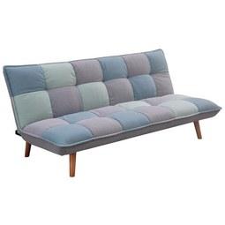 Zofa S Posteljno Funkcijo Patchwork - svetlo modra/siva, Moderno, tekstil/les (185/80/91cm) - Mömax modern living