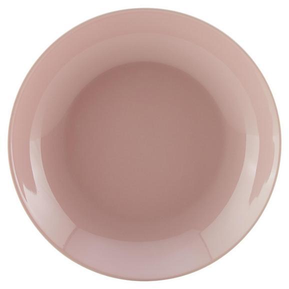 Suppenteller Sandy aus Keramik Ø ca. 20cm - Rosa, KONVENTIONELL, Keramik (20/3,5cm) - Mömax modern living