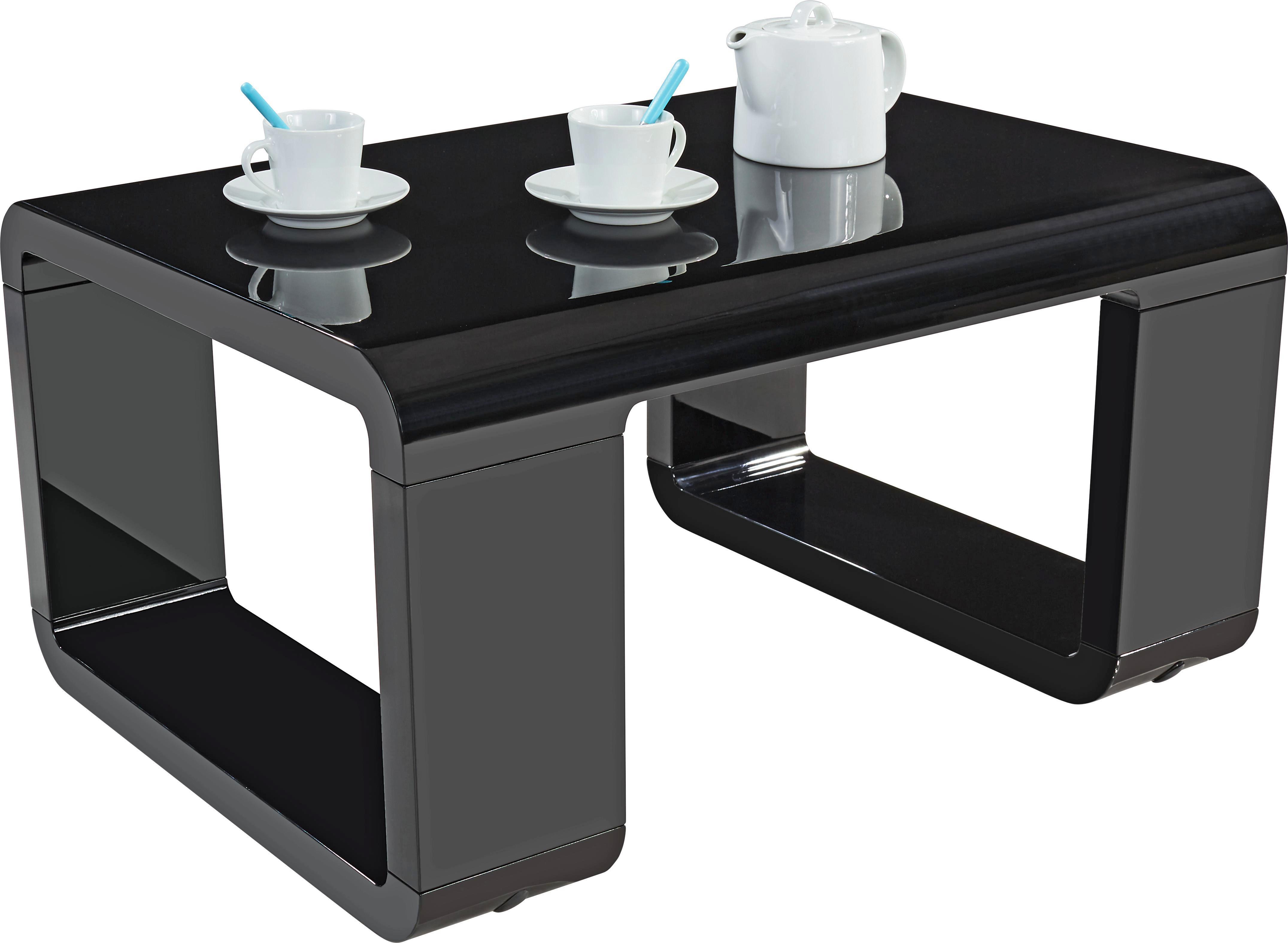 Dohányzóasztal Snake - fekete, modern, fa/faanyagok (90/42/60cm)