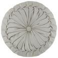 Zierkissen Round Silber D: 38cm - Silberfarben, LIFESTYLE, Textil (38cm) - Mömax modern living