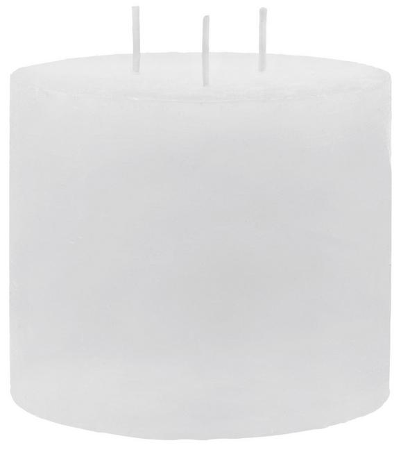 Sveča S Tremi Stenji Lia - bela, Moderno (12/10cm) - MÖMAX modern living
