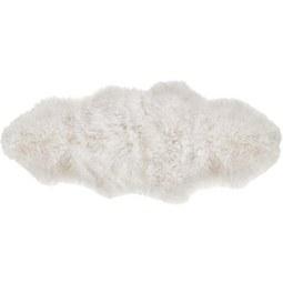 Schaffell in Weiß ca.150x65cm 'Mona' - Weiß, MODERN (150/65cm) - Bessagi Home